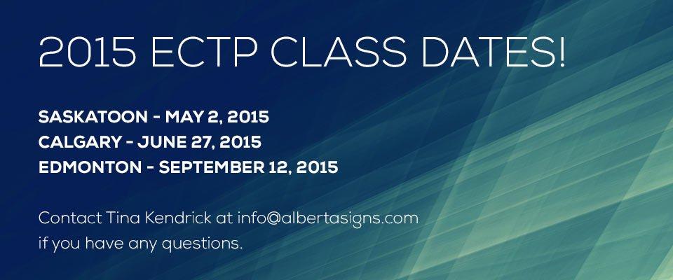 2015 ECTP Class dates!