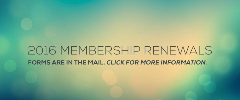 2016  Membership Renewals