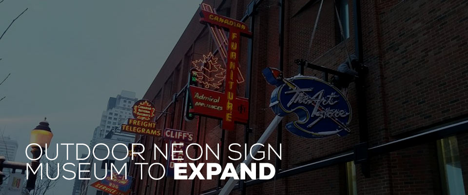 Edmonton's outdoor Neon Sign Museum to expand