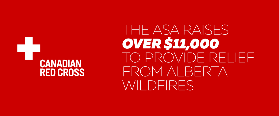 ASA Riases over $11,000 for Alberta Wildfire Relief