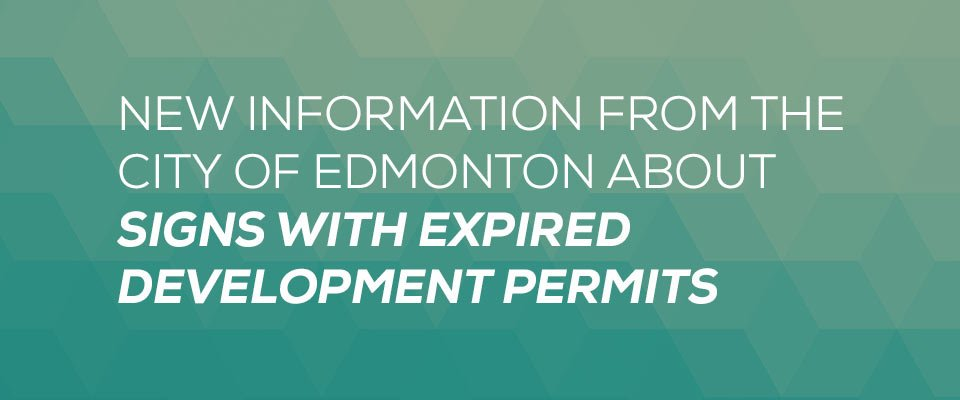 Expired Sign Info from the City of Edmonton